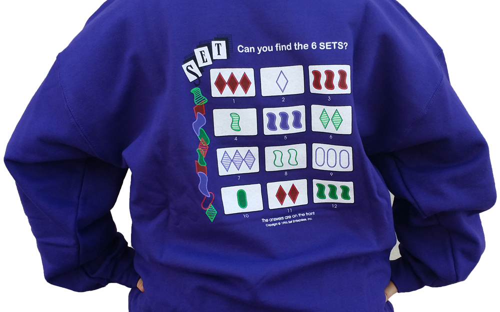 Purple SET Sweatshirt | America's Favorite Card Games®