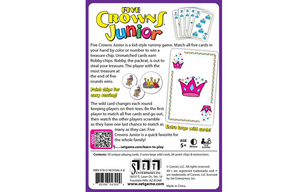 Five Crowns Junior Americas Favorite Card Games
