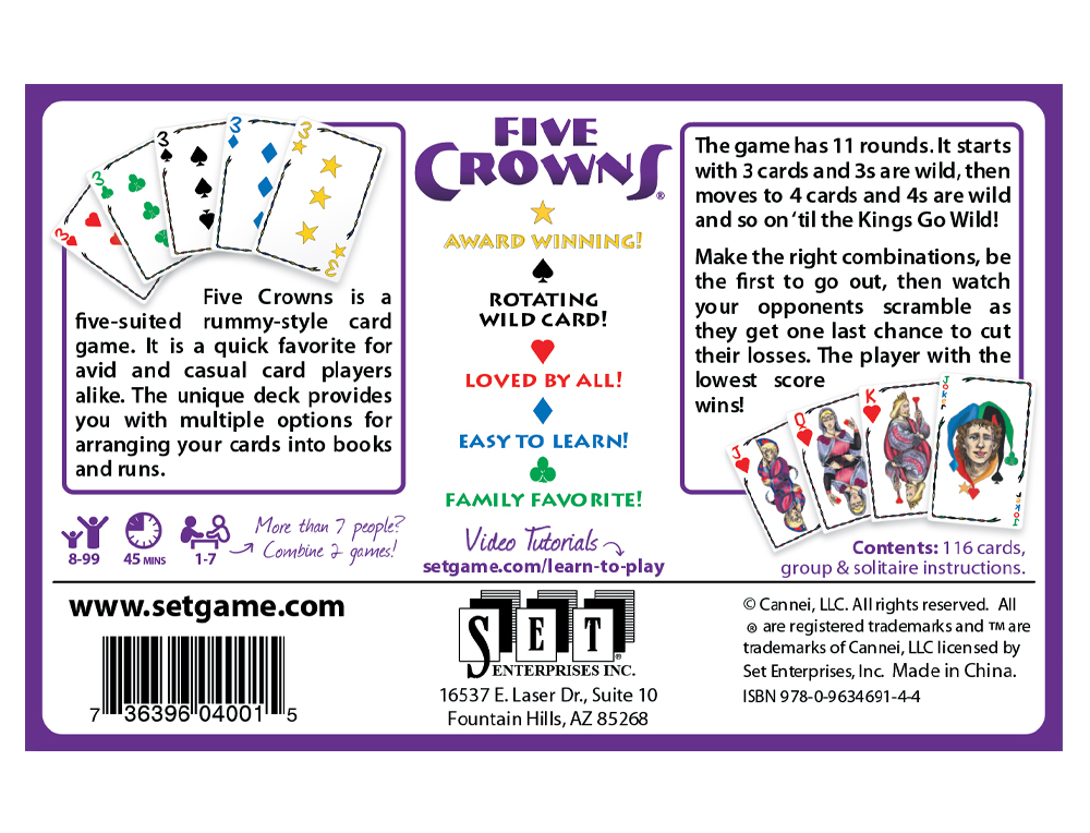 Five Crowns Americas Favorite Card Games
