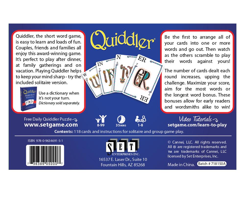 Quiddler Americas Favorite Card Games
