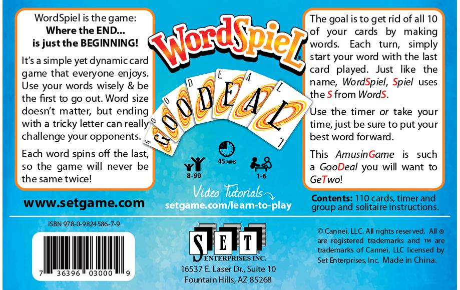 Wordspiel Americas Favorite Card Games