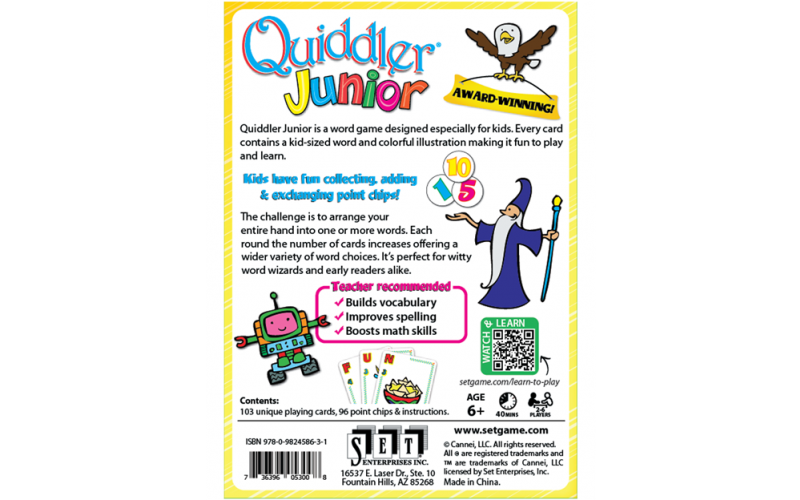 Quiddler Junior Box Back
