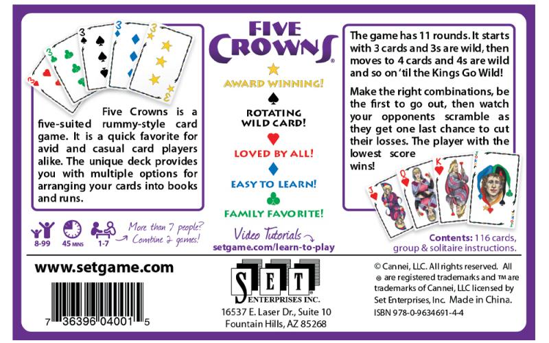 Five Crowns Box Back