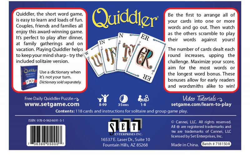 Quiddler America S Favorite Card Games