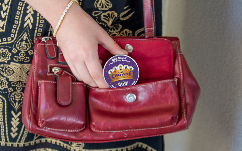 Five Crowns Mini Round Purse